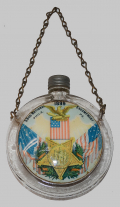 GLASS FLASK FROM 1899 G.A.R. ENCAMPMENT AT PHILADELPHIA