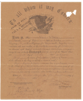 EAGLE DISCHARGE FOR 23rd MASSACHUSETTS SOLDIER CHARLES A. BARKER
