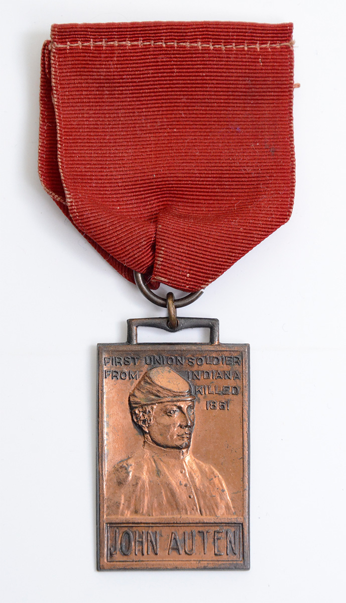 COMMEMORATIVE MEDAL – FIRST SOLDIER KILLED FROM INDIANA