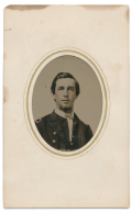 CDV SIZED TINTYPE OF YOUNG NAVY OFFICER