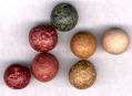 COLORED CLAY MARBLES - FREDERICKSBURG, VA