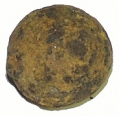 IRON CASE-SHOT BALL RECOVERED AT OAK RIDGE, GETTYSBURG - GEISELMAN COLLECTION
