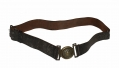 TWO-PIECE WAIST BELT PLATE STILL ON ITS ORIGINAL LEATHER WAIST BELT - BILL GAVIN COLLECTION