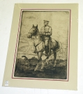 GENERAL JOHN J. PERSHING LITHOGRAPH BY BERNHARDT WALL