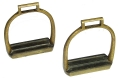 HANDSOME PAIR OF HEAVY BRASS ARTILLERY STIRRUPS.