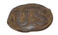 US PATTERN 1839 DRAGOON STYLE BELT PLATE WITH ORIGINAL LEATHER WASHER INTACT – GAVIN COLLECTION