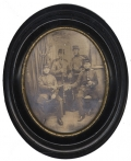ALBUMEN PHOTO OF FOUR PRUSSIAN FUSILIERS