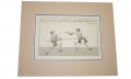 ORIGINAL MID 18TH CENTURY FENCING ENGRAVING BY FRENCH ARTIST P.J.F. GIRAURD