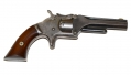 SMITH & WESSON MODEL NO.1, SECOND ISSUE REVOLVER ID'D TO MEMBER OF 54TH AND 42ND MASSACHUSETTS