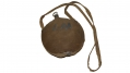 US REGULATION MODEL 1858 SMOOTHSIDED CANTEEN WITH ITS ORIGINAL BROWN WOOL COVER, COTTON SLING AND STOPPER