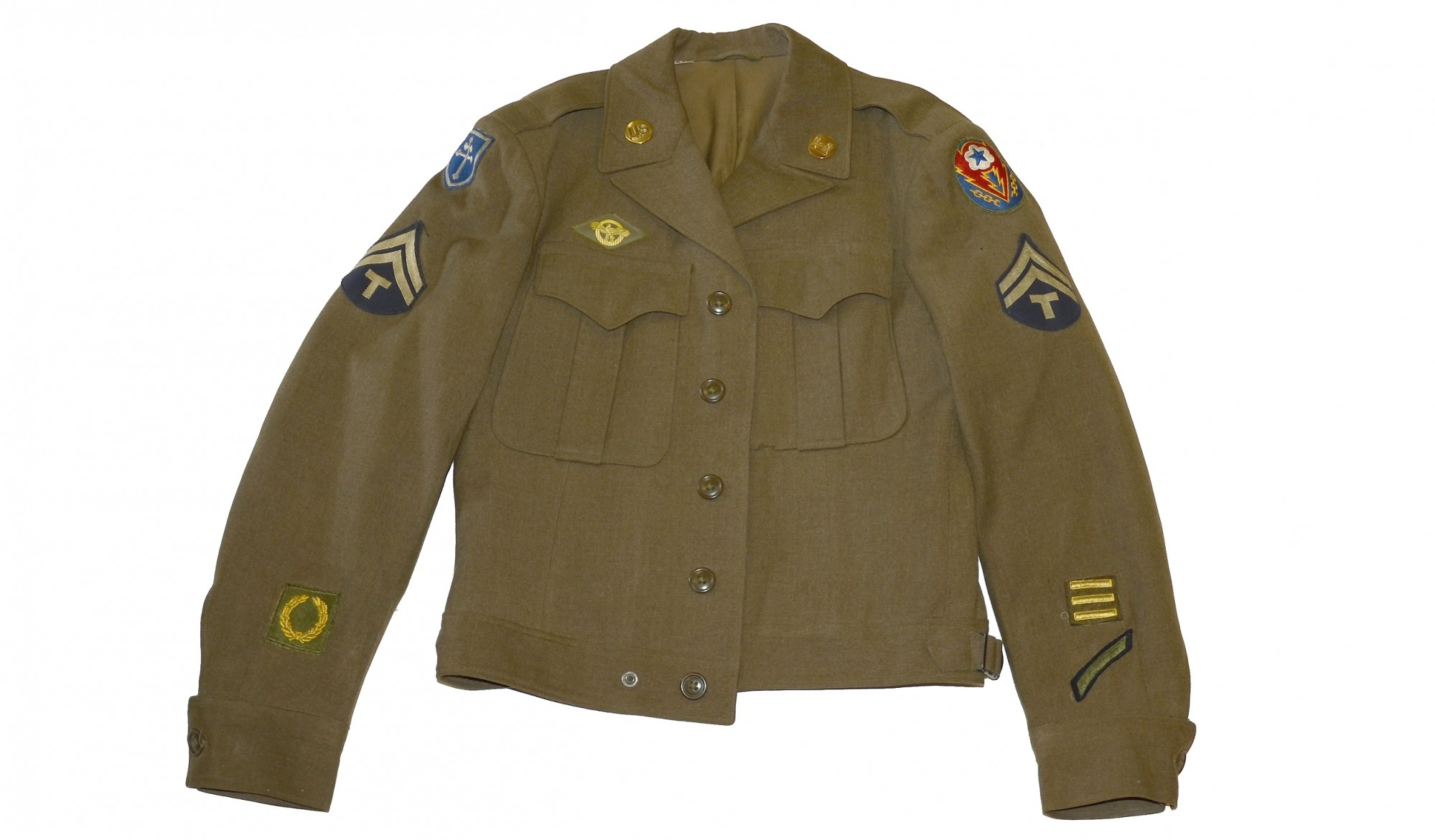 DOUBLE PATCHED WORLD WAR II 79TH INFANTRY DIVISION IKE JACKET