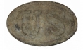 PATTERN 1839 US CARTRIDGE BOX PLATE RECOVERED FROM SPOTSYLVANIA - GAVIN COLLECTION